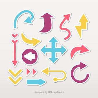 Pijl stickers met verschillende designs
