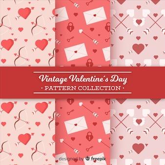 Pijlen en letters valentijn patronen