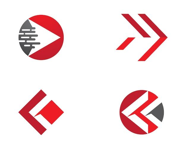 Pijlen illustratie pictogram logo sjabloon