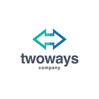 Pijlen logo template vorm