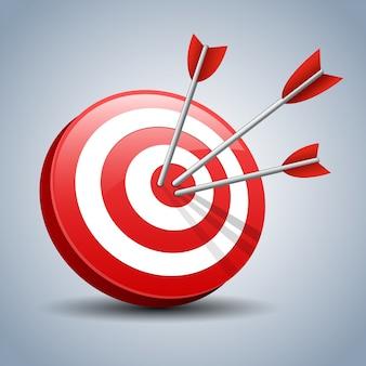 Pijlen raken een doelwit
