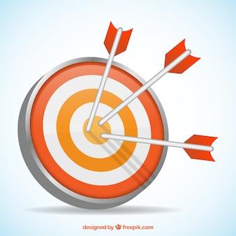 Pijlen raken het doelwit