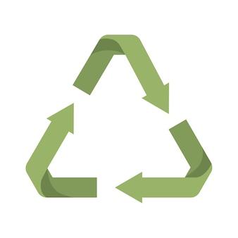 Pijlen recyclen symbool groen geïsoleerd pictogram ontwerp