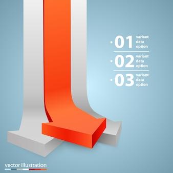 Pijlen zakelijke groei kunst info. vector illustratie