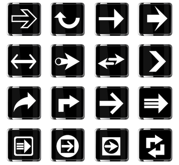 Pijlwebpictogrammen voor gebruikersinterfaceontwerp