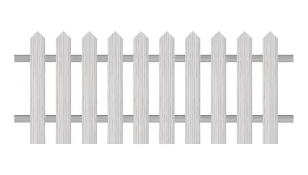 Piket hek, houten structuur, afgeronde randen.