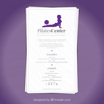 Pilates centrum brochure
