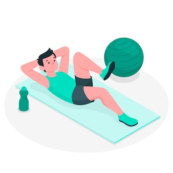 Pilates concept illustratie