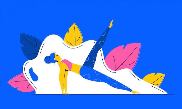 Pilates of yoga illustratie