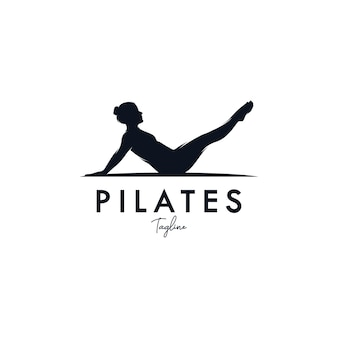 Pilates yoga logo identiteitsontwerp