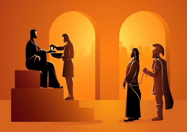 Pilatus veroordeelt jezus om te sterven