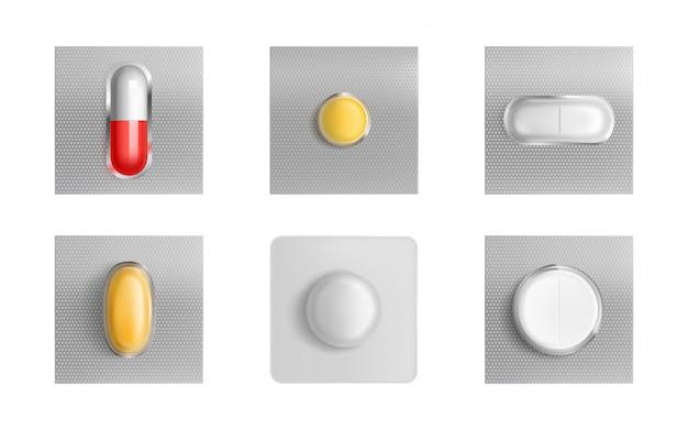 Pillenblisterverpakking, medicijntabletten en capsules