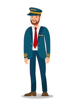 Piloot, vliegtuig captain flat