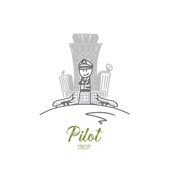 Pilot concept illustratie