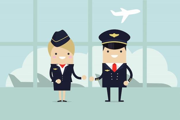 Piloten en stewardessen welkom.