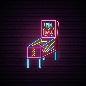 Pin bal machine neon teken.