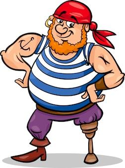 Pin been piraat cartoon afbeelding