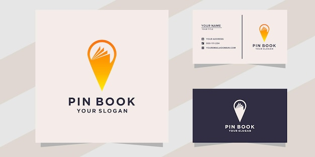 Pin boek logo sjabloon