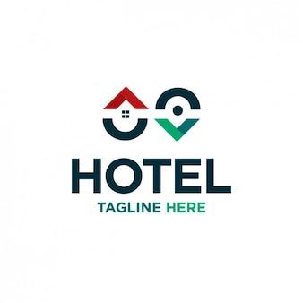 Pin kaart hotel logo