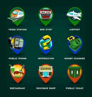 Pin kaart vakantie pictogram