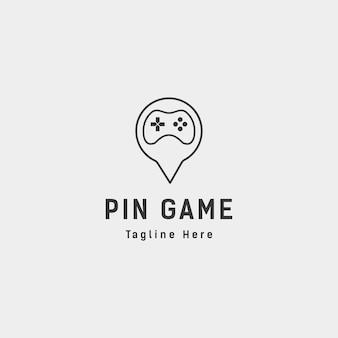 Pin locatie spel logo ontwerp dier concept controller - vector