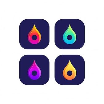 Pin pictogram logo