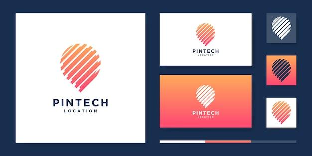 Pin-technologie inspiratie logo-ontwerp