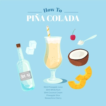 Pina colada cocktail recept