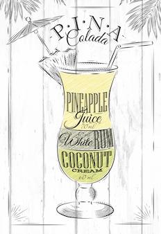 Pina colada-cocktail