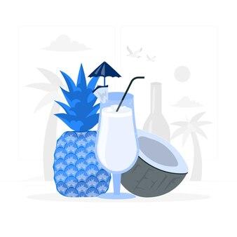 Pina colada concept illustratie