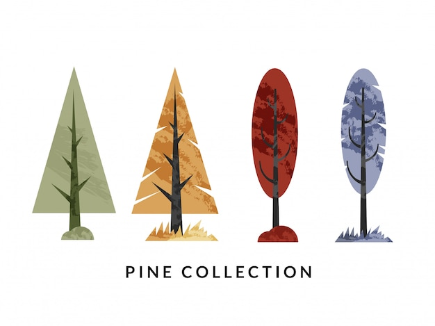 Pine collectie illustratie