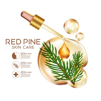 Pine serum huidverzorging cosmetica