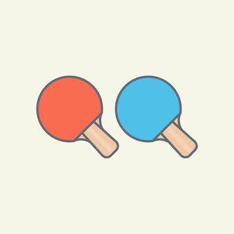Pingpong weddenschap vectorillustratie