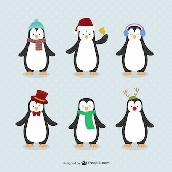 Pinguïncartoons pakken