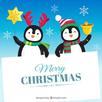 Pinguïns met leeg teken