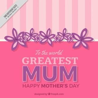 Pink mother's day achtergrond met strepen