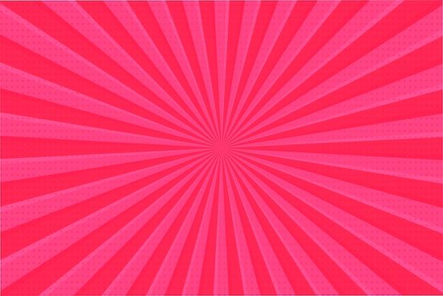 Pink ray achtergrond. de heldere stralen die zich vanaf de achtergrond verspreiden, zien er zoet uit op valentijnsdag.