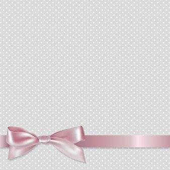Pink ribbon en stippen