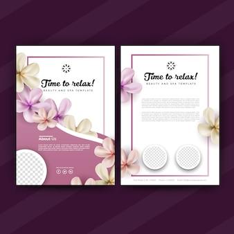 Pink spa flyer of brochure ontwerpsjabloon