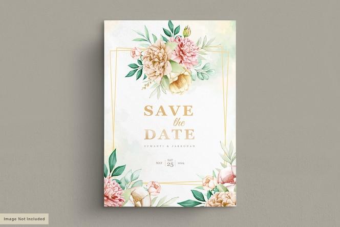 Pioenrozen bruiloft uitnodiging kaartenset