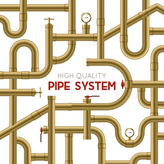 Pipe system achtergrond