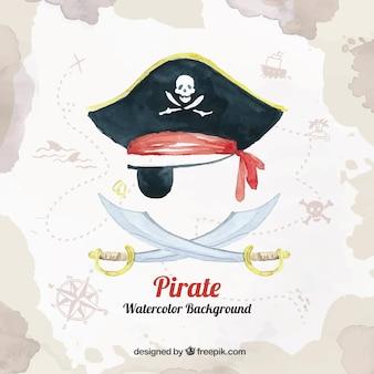 Piraat achtergrond ontwerp