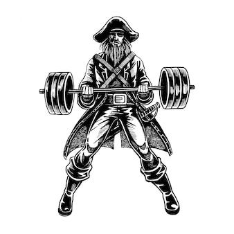 Piraat barbell illustratie