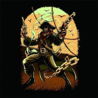 Piraat gekleurde versie