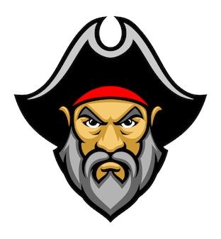 Piraat hoofd mascotte