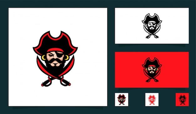 Piraat mascotte sport logo