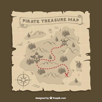 Piraat schatkaart