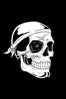 Piraat schedel vectorillustratie