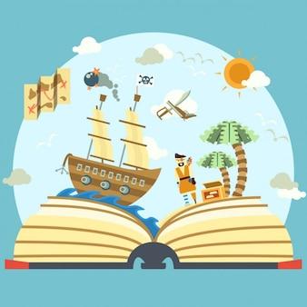 Piraat verhaal boek