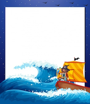 Piraat zee frame frame